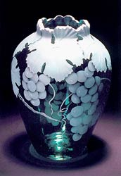 Grapes glass art by Cynthia Myers