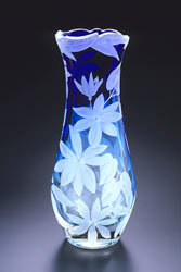 Clematis Vine glass art by Cynthia Myers