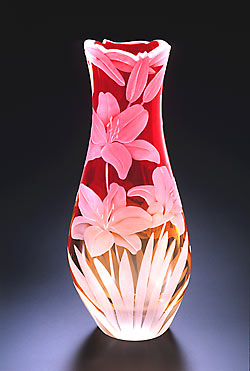 Lillies SOLD OUT glass art by Cynthia Myers