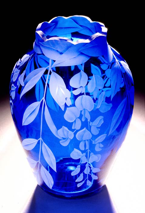 Wisteria Blossoms art glass by Cynthia Myers
