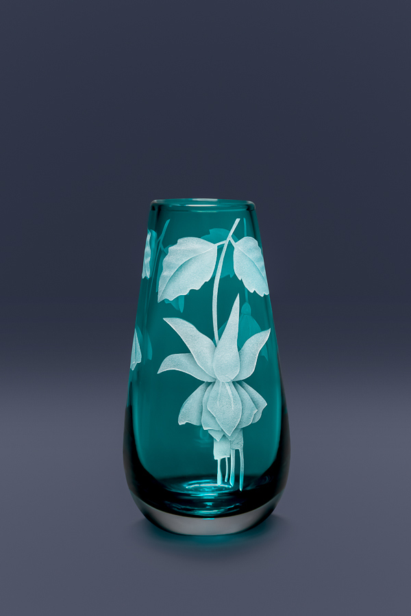 Fuchsia bud vase  glass by Cynthia Myers