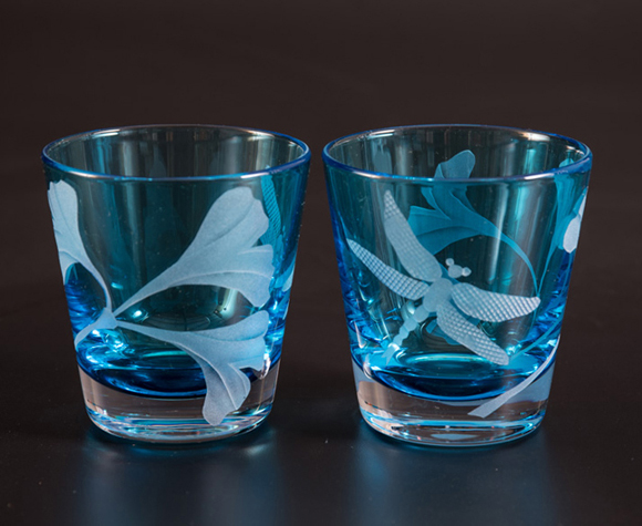 Tropics Cocktail  glass by Cynthia Myers