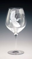 Egret Goblet  glass by Cynthia Myers