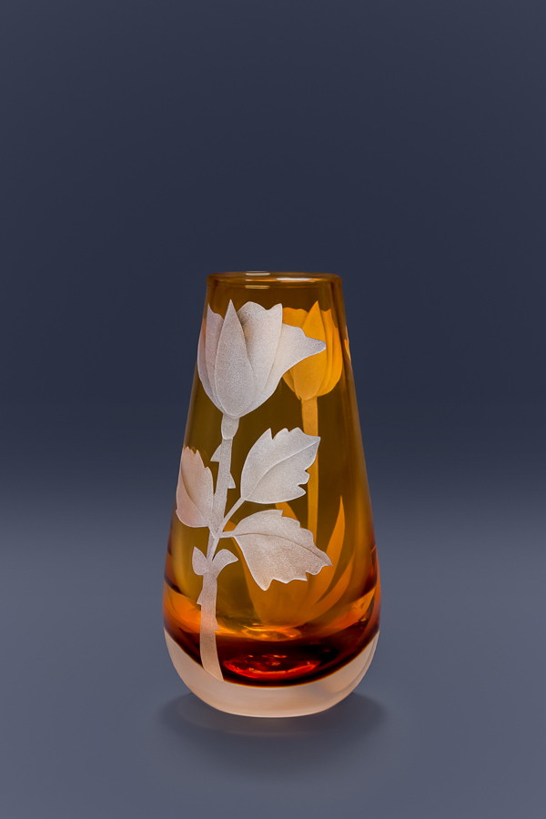 Rose bud vase  glass by Cynthia Myers