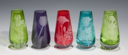 Bud Vases glass art by cynthia myers