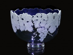 Cabernet Grape Bowl glass art by Cynthia Myers