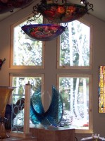 Aspen Panels glass art by Cynthia Myers